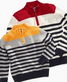 Tommy Hilfiger Kids #Sweater, Little #Boys Roy Half Zip @Macy's Official via Catalog Spree! $44.50