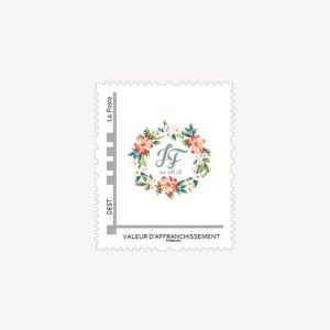 timbre personnalis fleur creation monkeychoo - Timbres Personnaliss Mariage