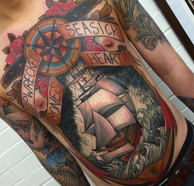 Tatto Body Inside Tattoo Ideas By Kerry Mitchell: 182 Best Images About Chest Tattoos On Pinterest