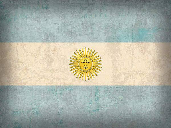 Argentina Flag Vintage Distressed Fnish