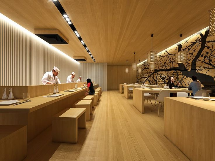 25 best ideas about japanese restaurant interior on for Koi sushi aix