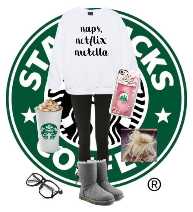 """""""Basic white girl starter pack"""" by gabrielle-elena72403 on Polyvore featuring Topshop, UGG and Casetify"""