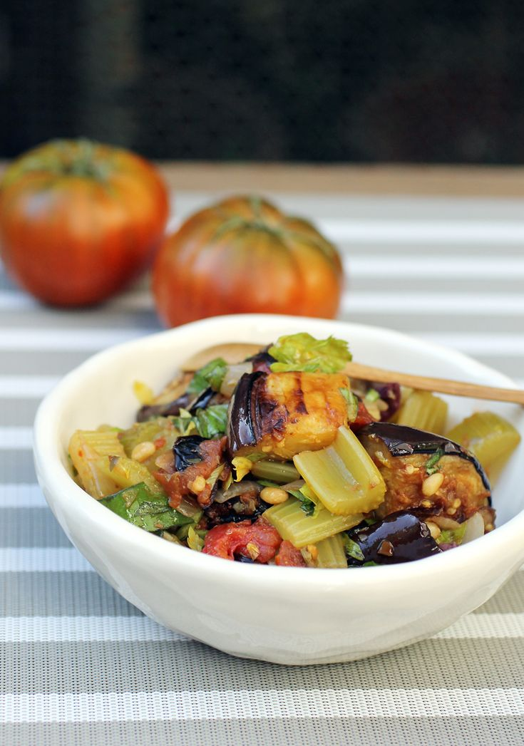 kitchen boss eggplant caponata%0A Eggplant Caponata  Eggplant  tomatoes  olives  pine nuts and a whole lot of