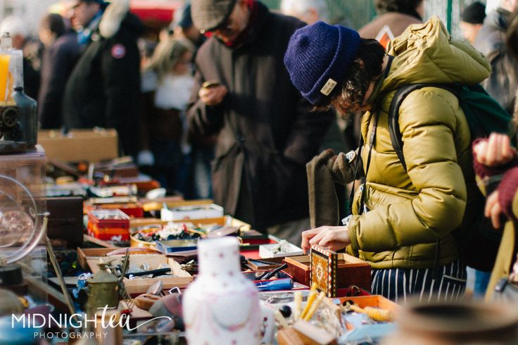 Treasure hunting for french antiques. Paris Vanves Flea Market