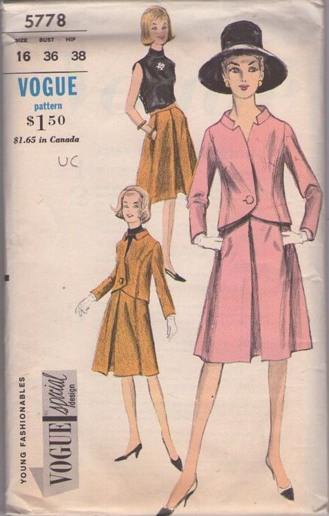 Vogue 5778 Vintage 60 S Sewing Pattern Gorgeous Special