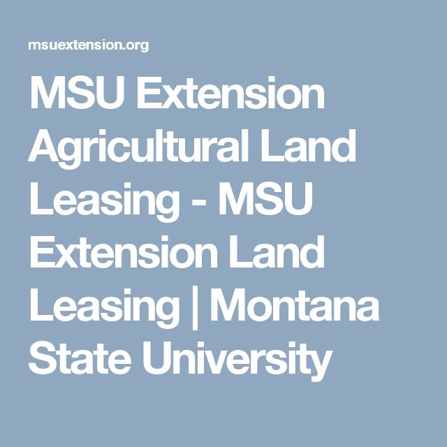 MSU Extension Agricultural Land Leasing - MSU Extension Land Leasing | Montana State University