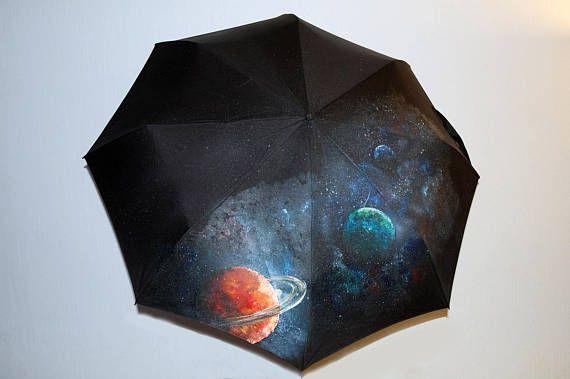 Umbrella space hand-painted semi-automatic umbrella umbrella