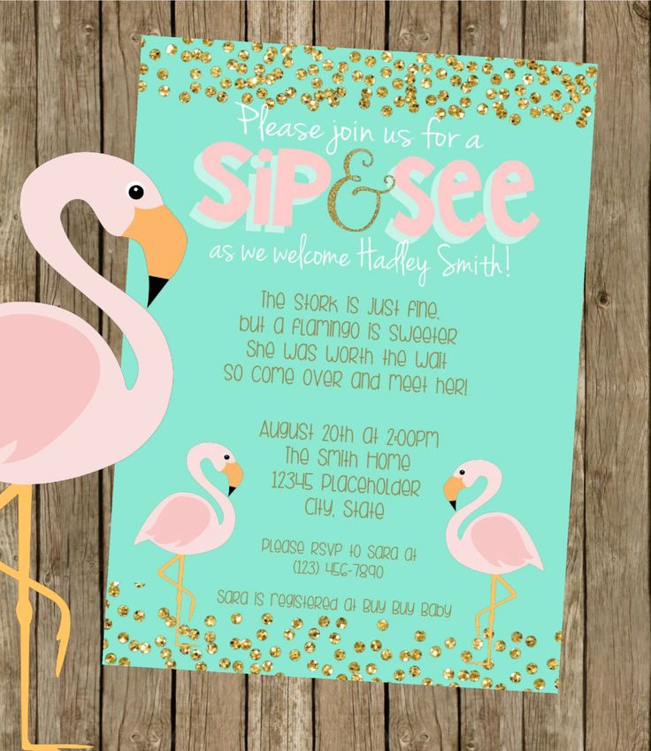 Adoption Baby Shower - Flamingo Baby Shower Invite - Printable File by CreativeKittle on Etsy