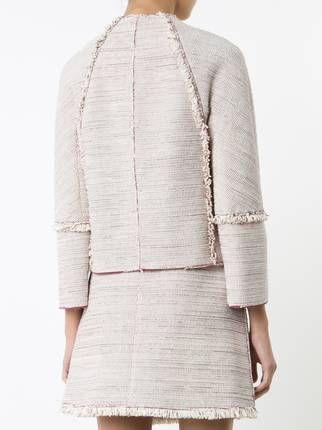 Proenza Schouler твидовый пиджак без воротника