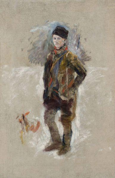 Portret Gościmińskiego, szkic - Władysław Podkowiński