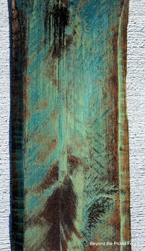 Beyond The Picket Fence: How Did You Paint That?..Painting Pallet wood. I like the affect staining it after painting the color gives it.