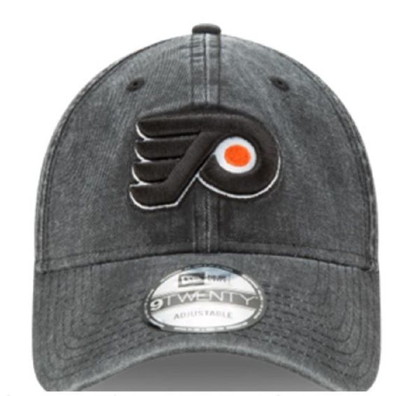 New Era NHL Mens Rugged Wash 920 Philadelphia Flyers Hockey Cap Black 80470061