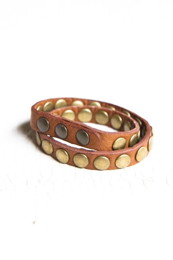 Brandy Mellville USA, studded wrap bracelet, $12