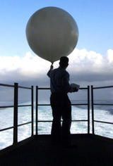 What Are the Two Types of Lapse Rate? : Aerographers Mate 3rd Class Robert Mason of Chicago, IL, releases a weather balloon from the fantail of the USS Harry S. Truman September 26, 1999.