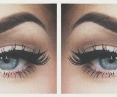 winged eyeliner + bold brows.