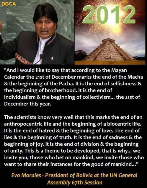 This is a better perspective - if you're into this level of understanding. By: Evo Morales - President of Bolivia at the UN General Assembly 67th Session ~ Sep 2012