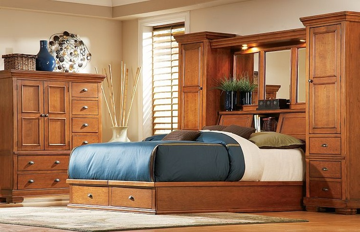 Beds with storage beds and storage on pinterest for Havertys bedroom furniture sets