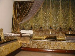 khalifa décor: rideaux et salon marocain