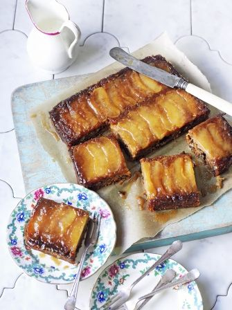Vegan toffee apple upside-down cake | Jamie Oliver