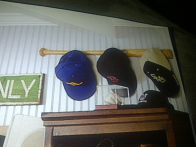 what a clever way to hang baseball hats kiddo caboodle
