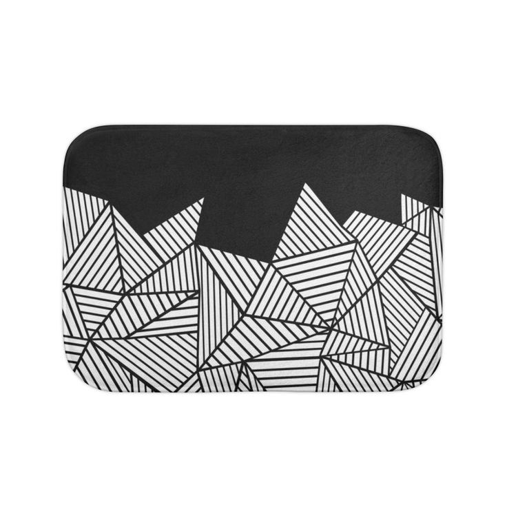 Geometric Black Bath Mat by Project M $20