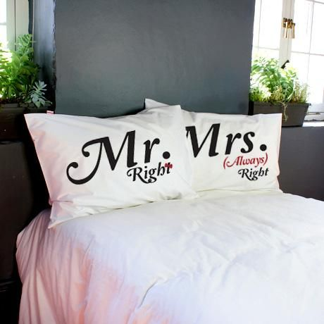 Mr Right… Pillowcase Set – Black & Red from Poetic Pillowcases - R319 (Save 36%)
