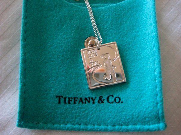 """2009 Nike Women's Marathon Finisher's """"Medal"""" Tiffany Necklace"""