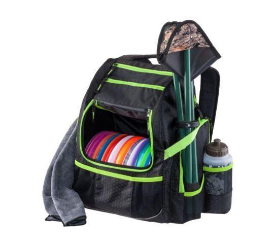 Disc Golf Backpack Bag Ultimate Frisbee Black Ripstop Water Resistant Storage  #Magellan