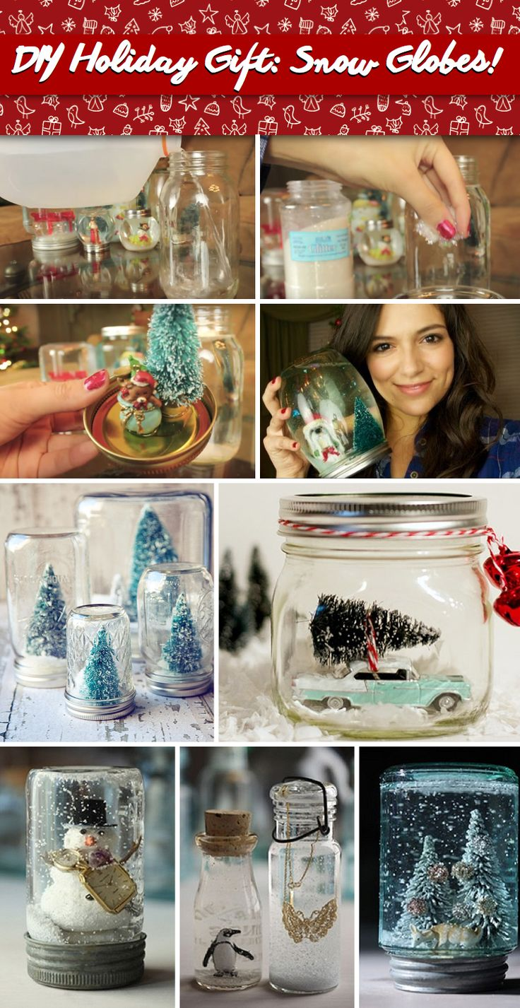 Verzaubern Sie Ihre Weihnachtsgeschenke mit diesem DIY Christmas Snow Globe!   – Christmas Decorations