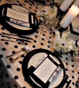 Black And White Polka Dots Evantine Design Paul Loftland For Dinner Table