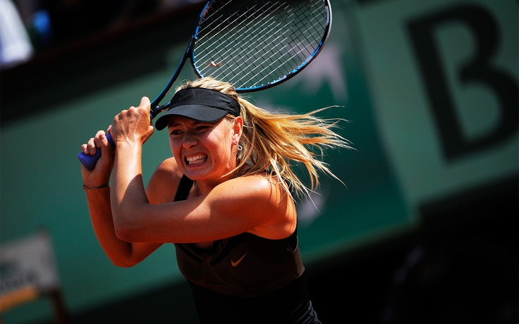 Saturday, June 2, 2012 Show of strength  Russian player Maria Sharapova flies through two easy sets (6-2, 6-1) against China's Shuai Peng.