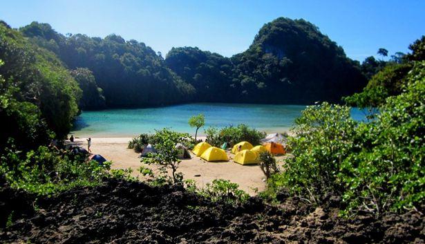 Sempu Island in Malang, Jawa Timur