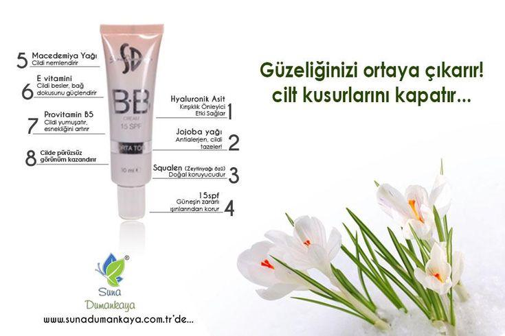 Yeditepe Üniversitesinde hazırladığım, benzerlerinden çok farklı özellikleriyle  ürün tavsiyem http://www.sunadumankaya.com.tr/15-Spf-BB-Cream,PR-72.html…