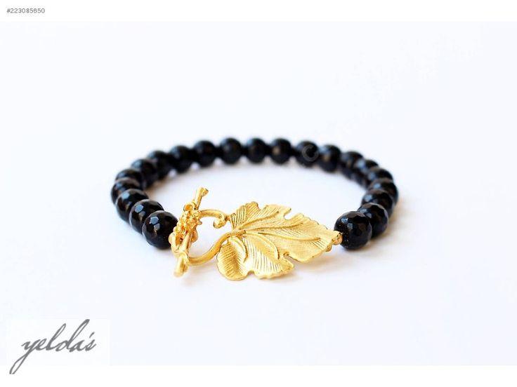 Yelda's Takı - Özel Tasarım Oniks Taşlı Bileklik - Yarı Değerli Taşlı Bileklik & Bilezik modelleri ve Bayan takı mücevher çeşitleri sahibinden.com'da - 223085650
