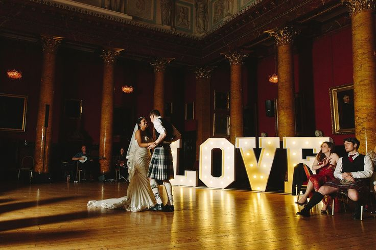 first dance in the great hall at a wedding at Royal College of Physicians Edinburgh by Struve Photography