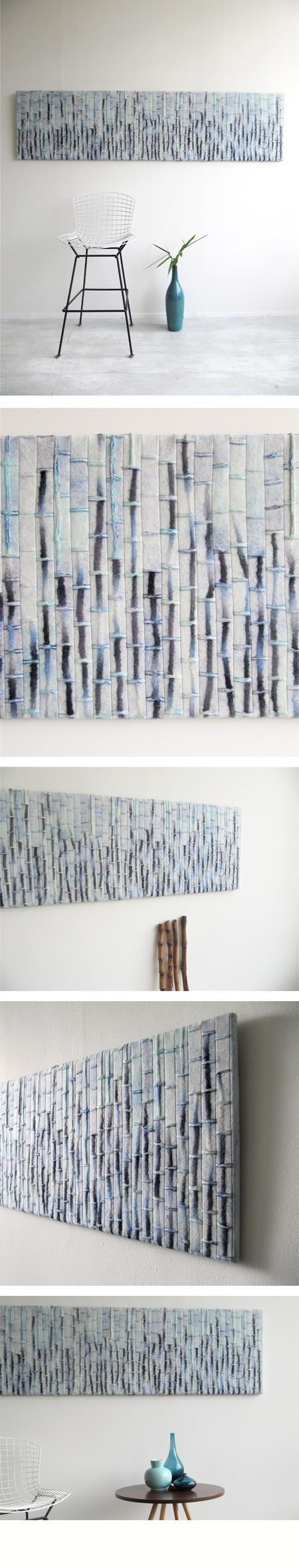 Blue blue bamboo!! | Feltgood by Ellen van der Wiel