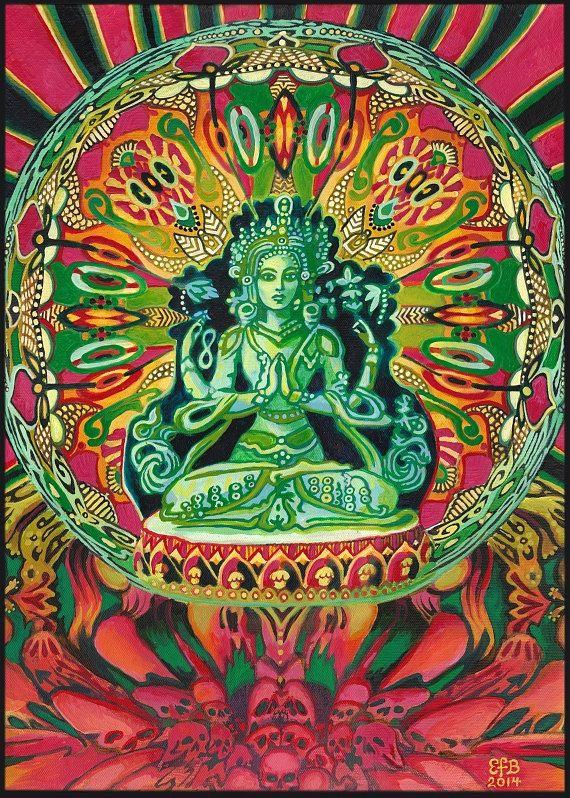 Guanyin déesse de la Compassion déesse par EmilyBalivet sur Etsy