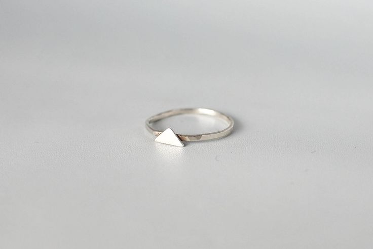 Mini Triangle – handmade silver ring created with recycled sterling silver. Minimalist silver jewelry, Swedish design.
