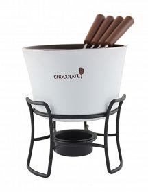 KAMILLE Ceramiczny zestaw do fondue dla 4 osób