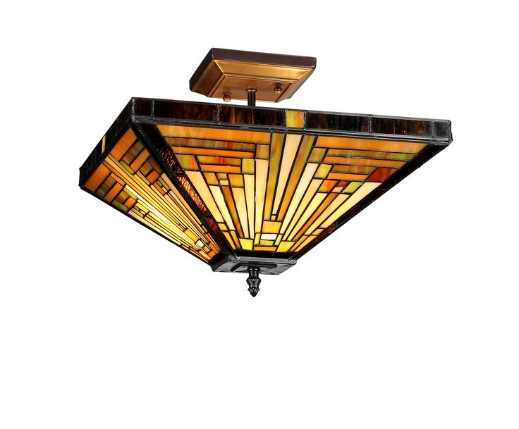 Mission 2 Light Innes Semi Flush Mount