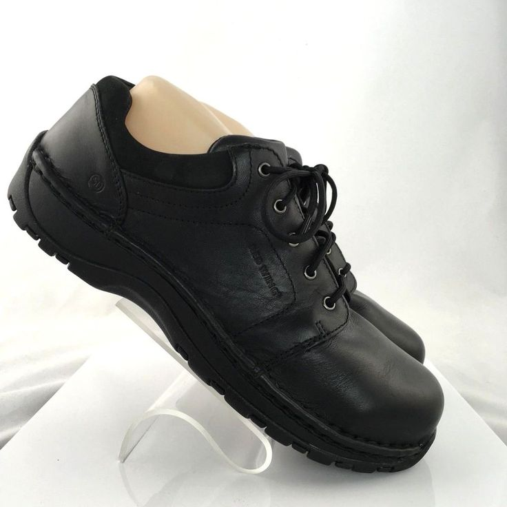 Red Wing womens Steel Safety Toe Work Shoes Black ASTMF 2413-05 Size 9.5 B #RedWingShoes #WorkSafety