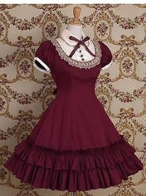 2016 New Lolita Vintage Girls' Dress  Princess Dress  Short Sleeve  Three Colors