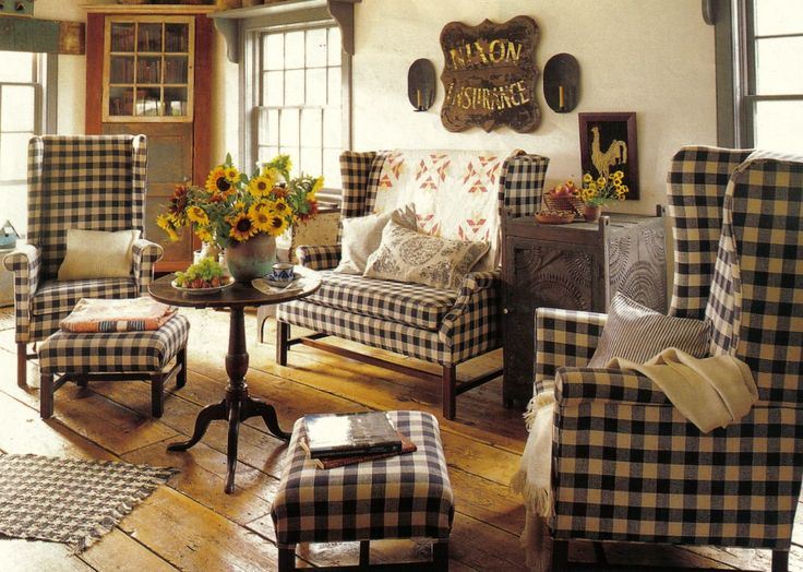 plaid living room furniture. underhill Dyer  do you think I could use the black and white check for chairs in LR With coral fabric 103 best Primitive Sitting Room images on Pinterest