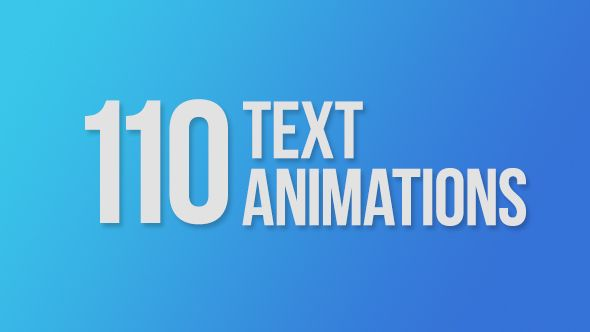 Play preview video, https://videohive.net/item/110-text-animations/9358175/?ref=upra