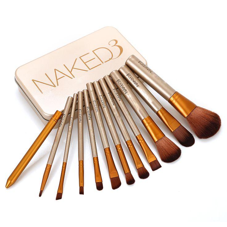 Kwasten 7 12 Stks houten handvat Borstels oogschaduw borstel Professionele kabuki kit set maquiagem make borstels