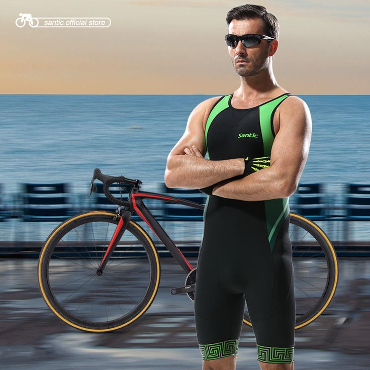 Santic Men Triathlon Clothing Black Cycling Jersey Tight Suit Bike Cycling Swim Mens Triathlon Sleeveless Jerseys M5C03006V -- AliExpress Affiliate's buyable pin. Find out more on www.aliexpress.com by clicking the image