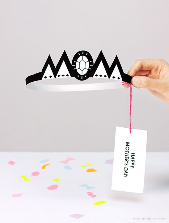 Crown Mother's Day Card - Mr Printables