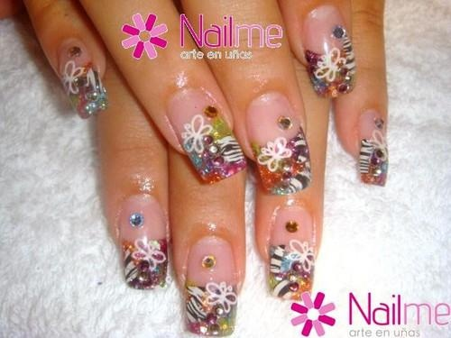 U as acrilicas dise os con piedras i nails - Decoracion de unas gel ...