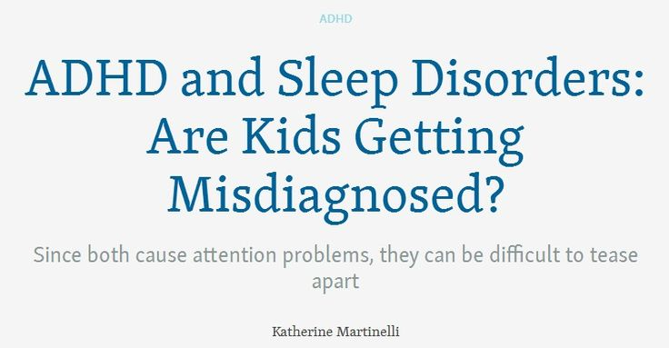 Sleep prblems in adhd teens