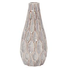 Living & Co Ceramic Vase 22cm Grey